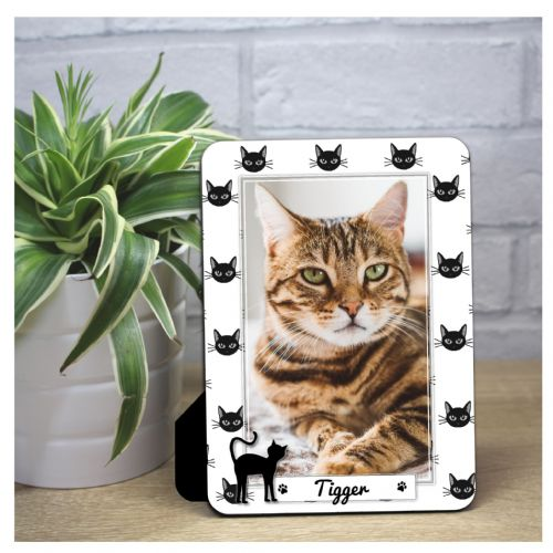 Personalised Cat Print Wood Photo Panel F69